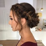 This beautiful braided updo is perfect for festive hairstyle by goldplaited - New Site