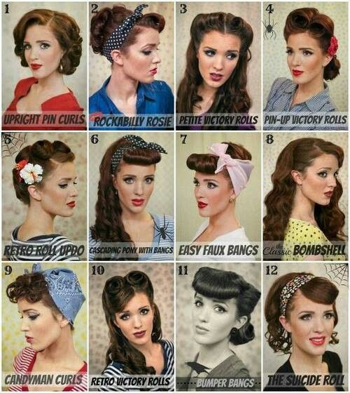 Vintage Pin Up Hairstyle