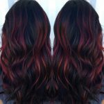 dark brown hair with red highlights  Red Hair #with #red #RedHair