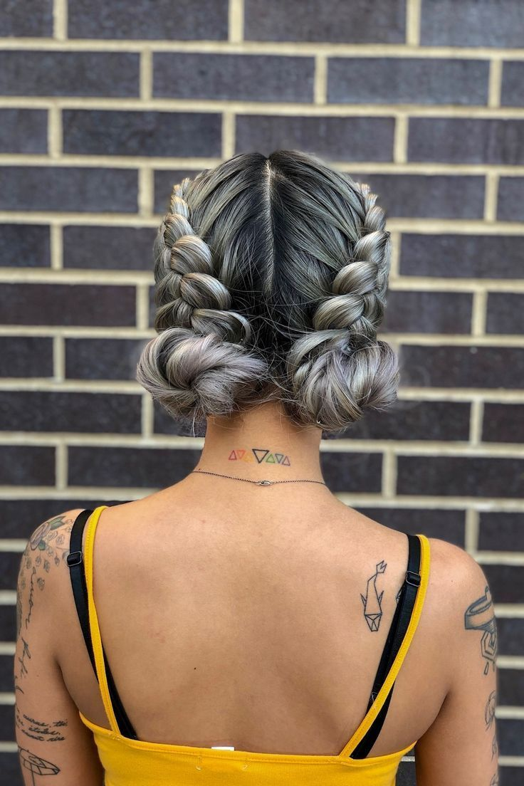 get ready for festival season with this boho braided updo! double dutch braids +…