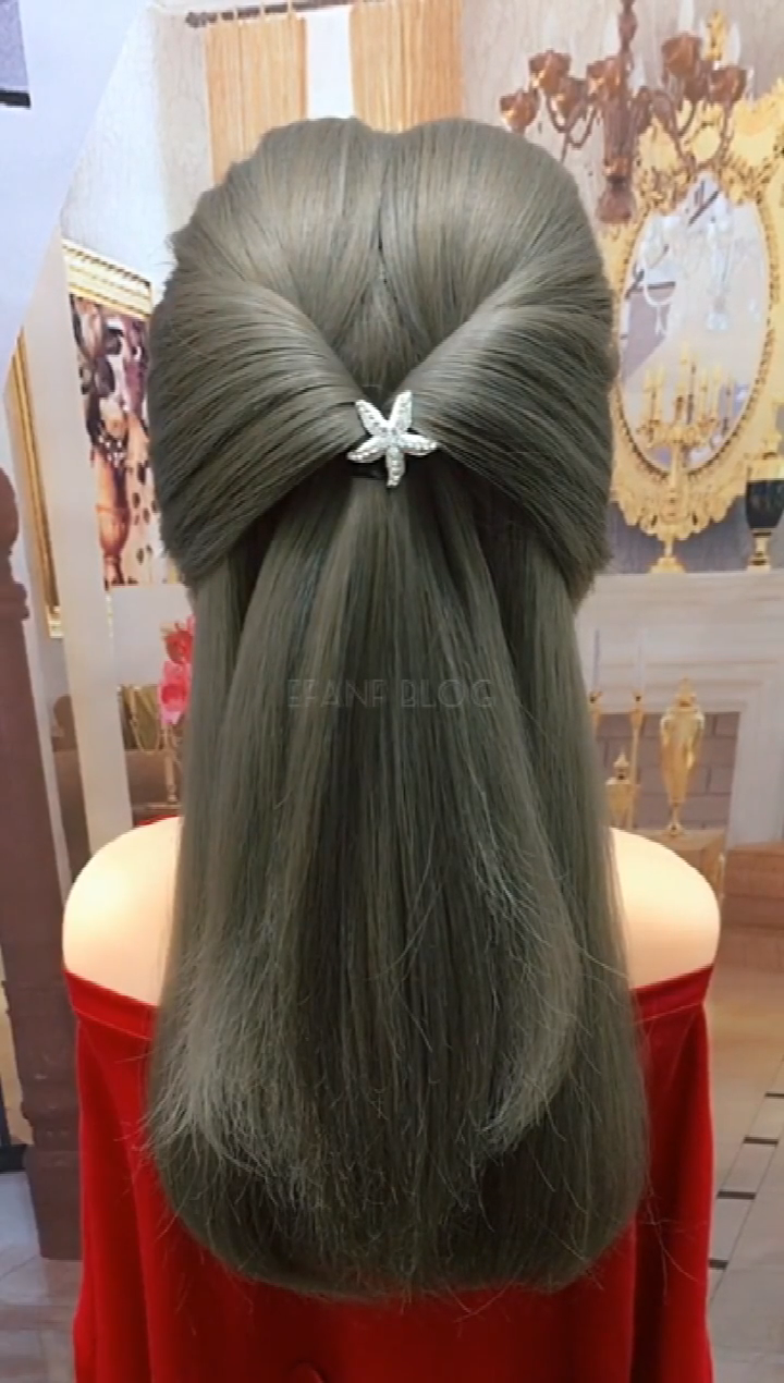 hairstyle suitable for light colored clothes
